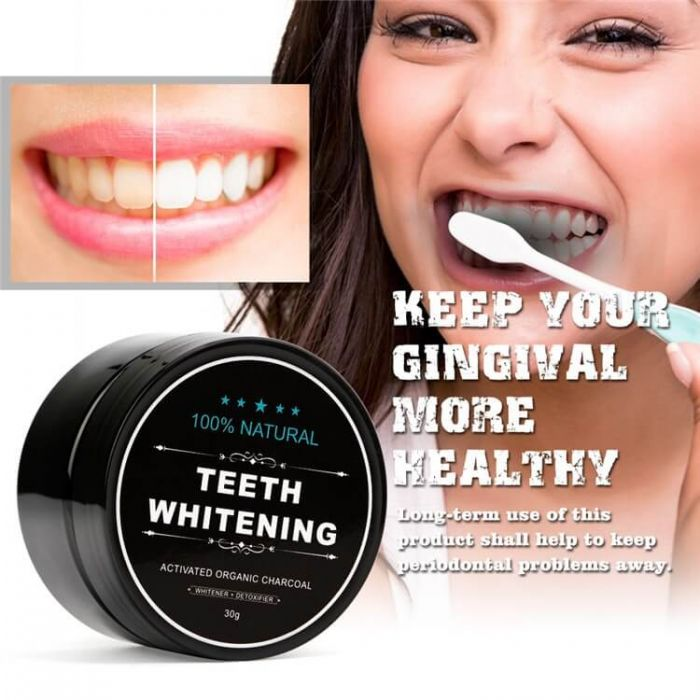 Charcoal Teeth Whitening Powder Teeth Cleaning Powder
